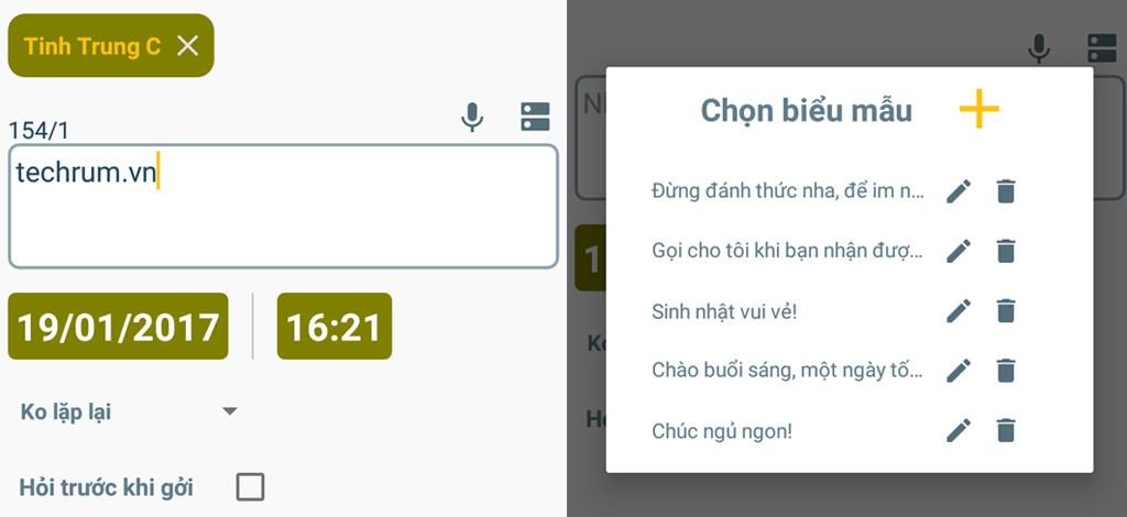 Mẹo hay giúp hẹn giờ gửi tin nhắn chúc Tết trên Android 4