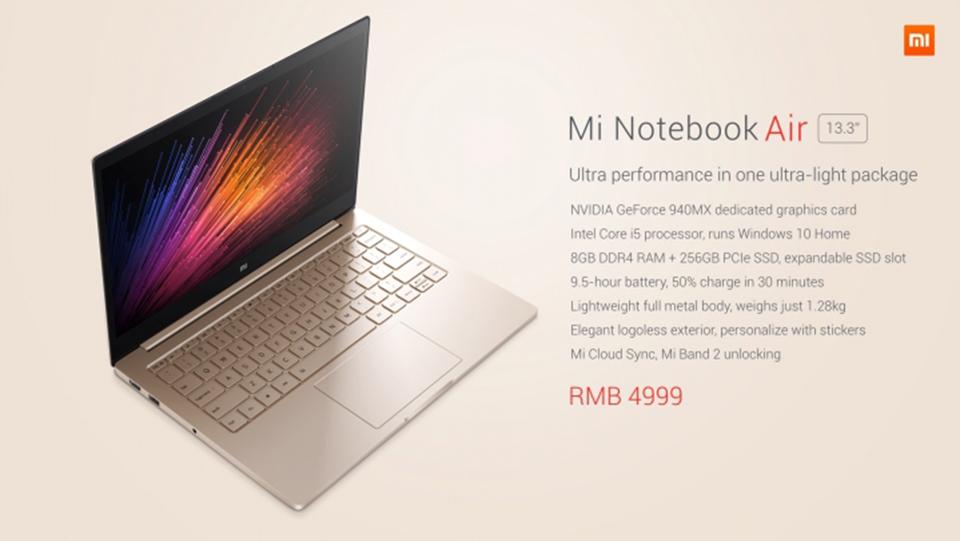 Xiaomi chính thức giới thiệu Notebook Air với 2 phiên bản, máy cực đẹp, cấu hình tót, giá rẻ