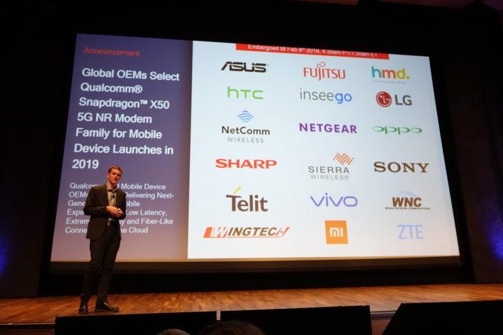 Qualcomm công bố 18 đối tác được cung cấp chip X50