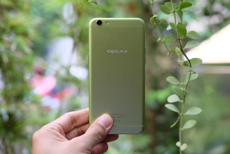 Mở hộp Oppo R9s màu xanh lá