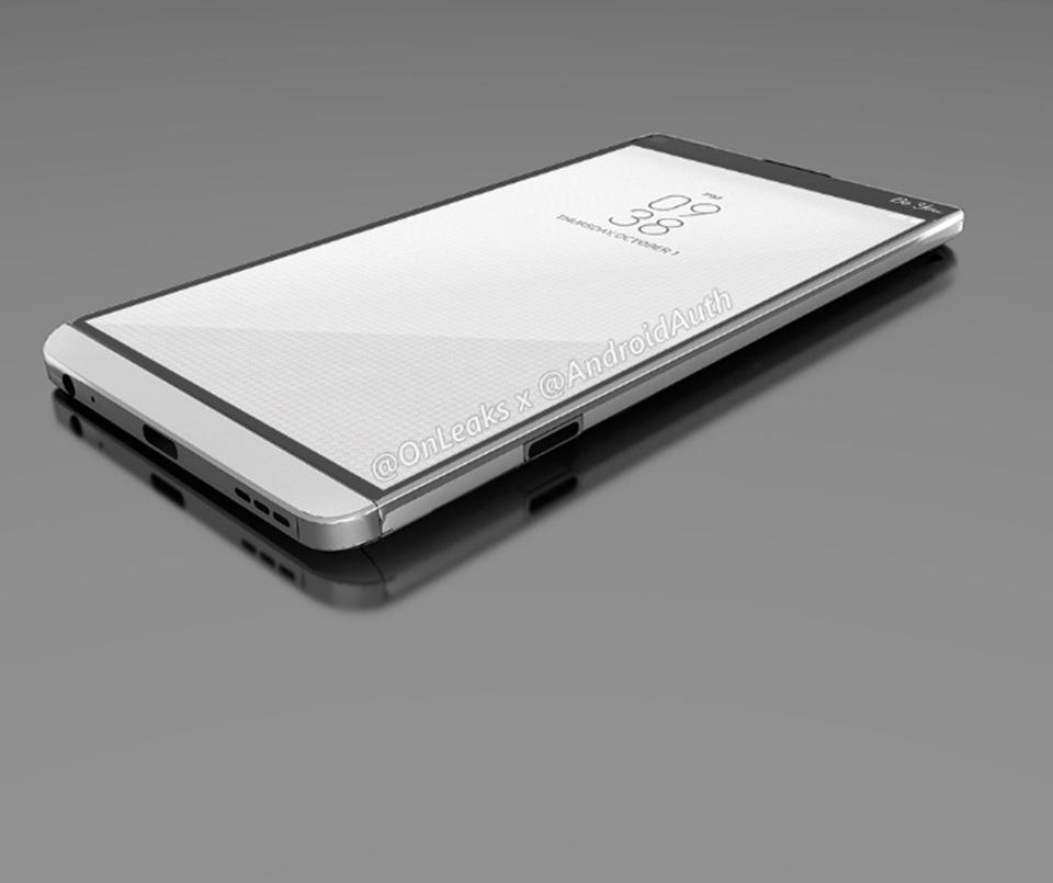 LG V20 rò rỉ hình ảnh thiết kế đầu tiên
