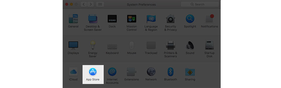 Tắt tự động cập nhật phần mềm trên MacOS Sierra