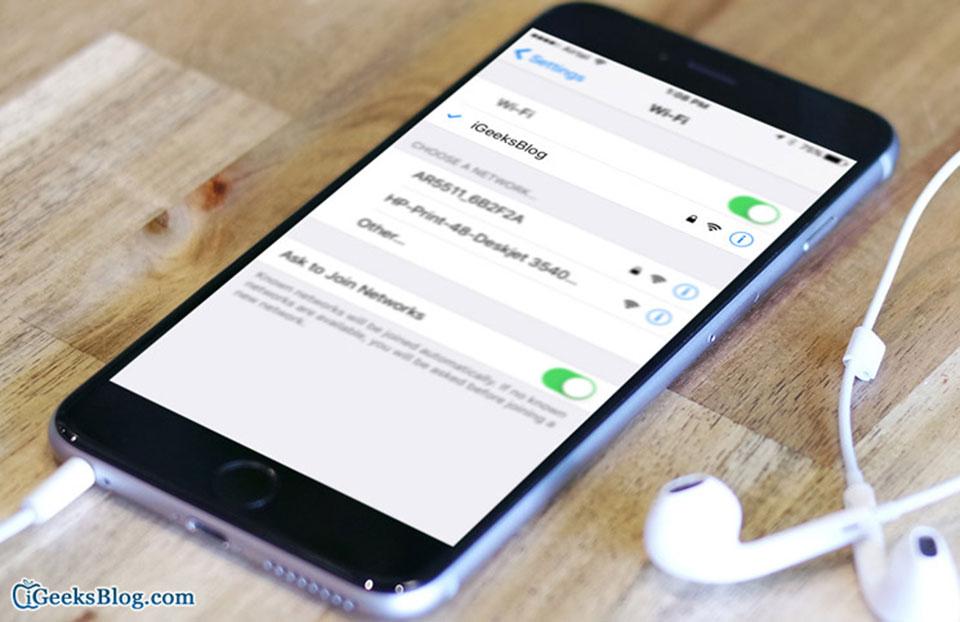 Sửa lỗi không thể kết nối Wi-Fi trên iOS 10