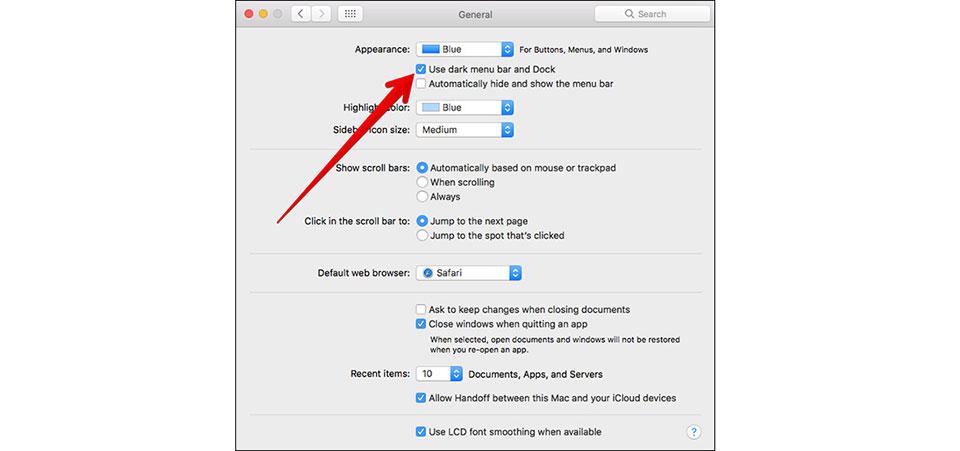 Kích hoạt chế độ Dark Mode trên MacOS Sierra