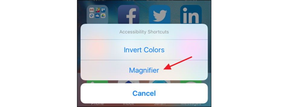 Các bước biến iPhone thành kính lúp