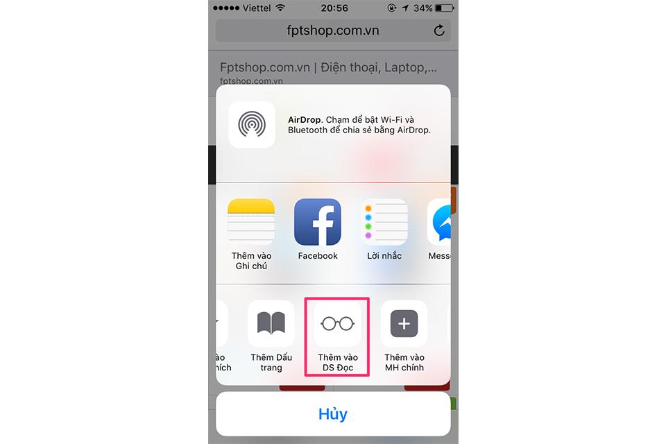 Hướng dẫn sử dụng Reading List - lưu lại trang web trên Safari