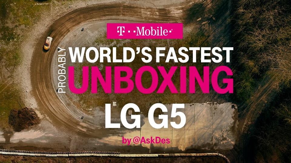 Ấn tượng với video đập hộp LG G5 trên xe đua