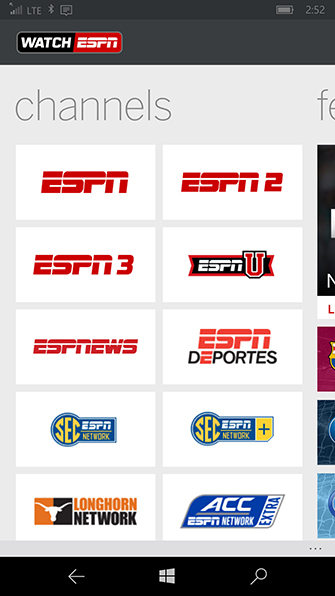 ứng dụng thể thao WATCH ESPN 2