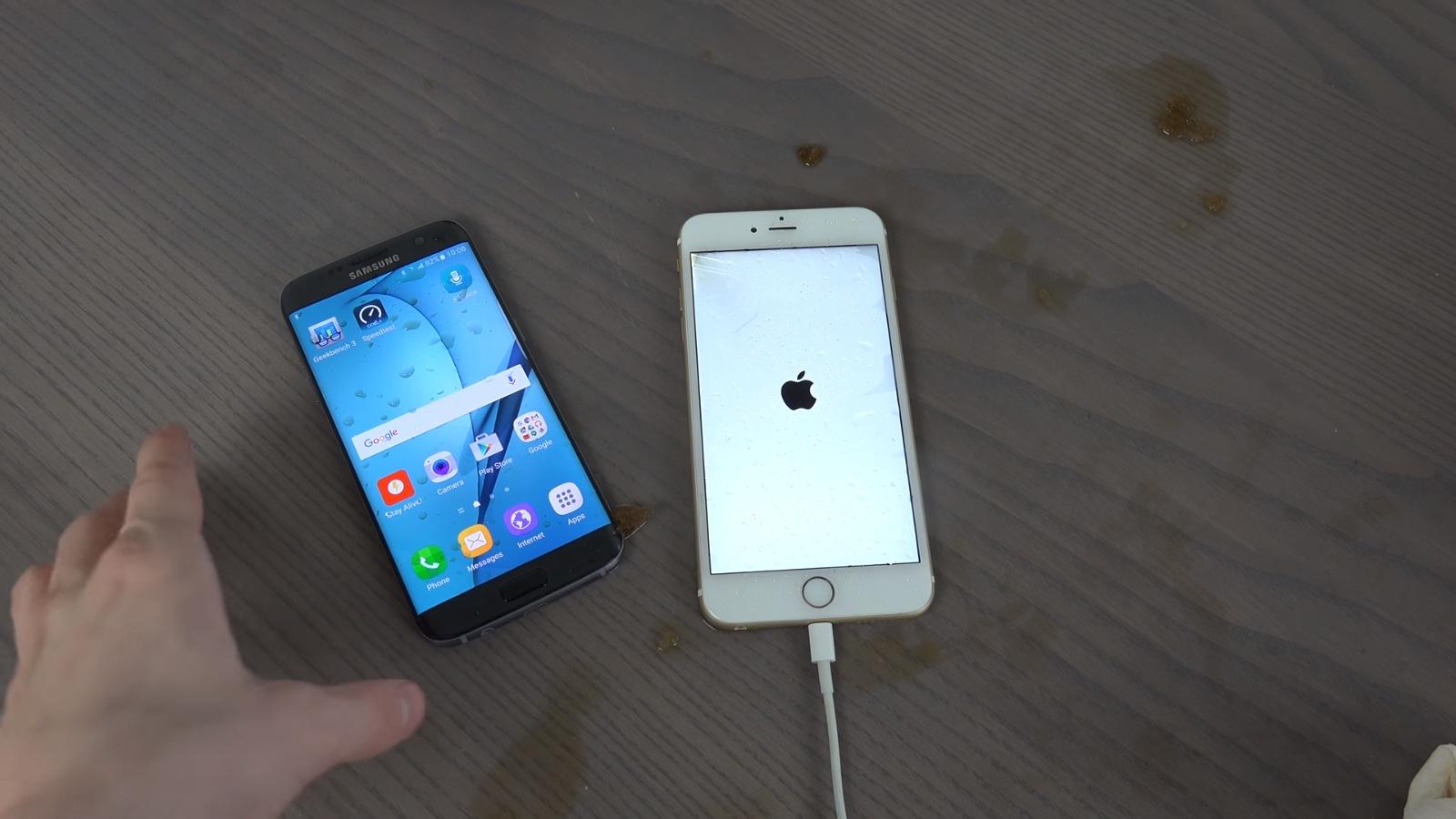 iPhone 6s đọ khả năng đông đá với Galaxy S7