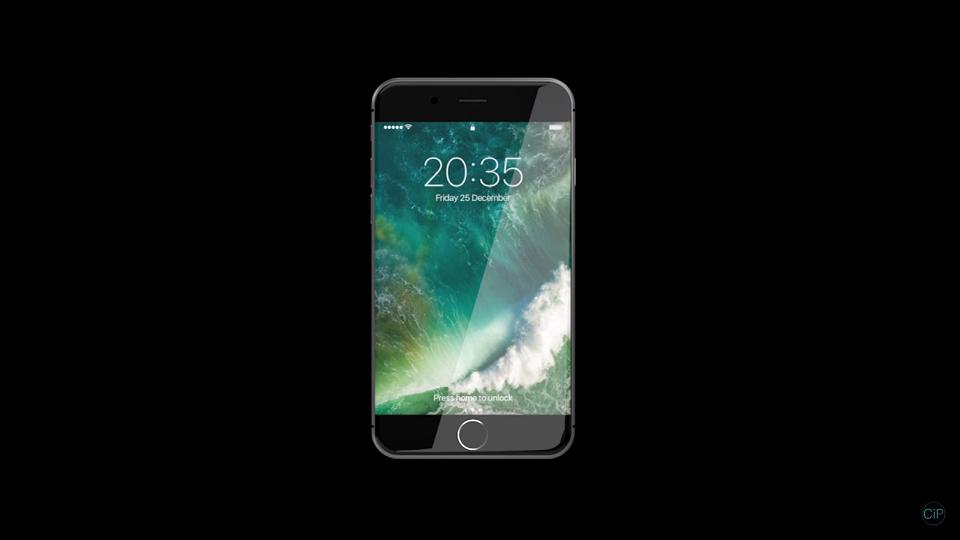 Mê mẩn với thiết kế iPhone 8 mặt kính cong, sạc không dây và SIM điện tử