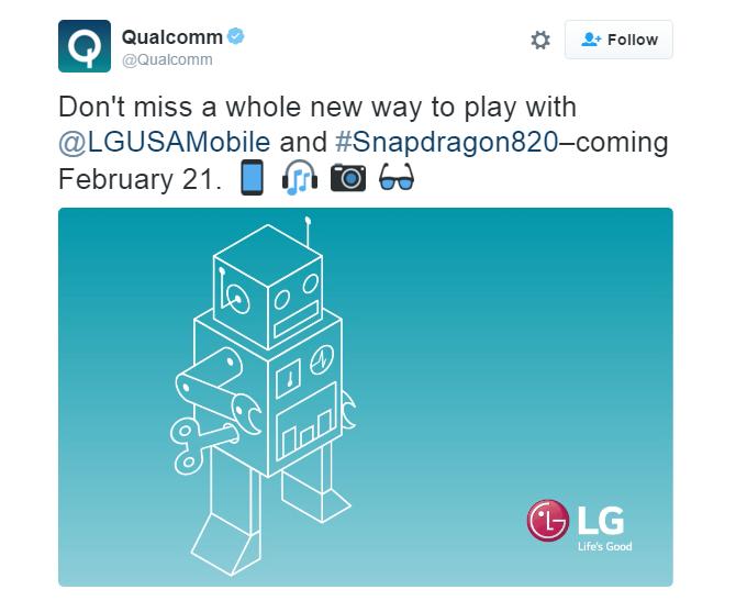 Qualcomm xác nhận LG G5 sẽ sử dụng chip Snapdragon 820