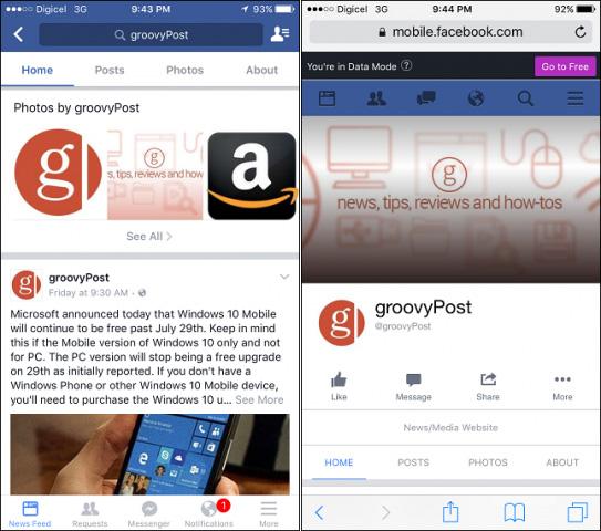 Ngừng sử dụng các ứng dụng Facebook và Twitter