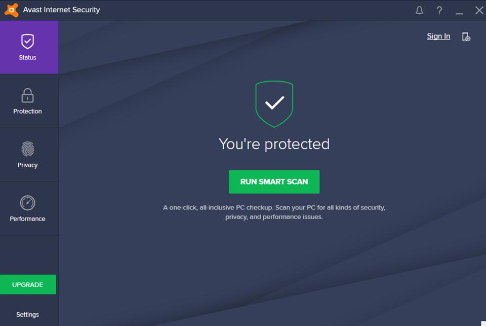 Giao diện tường lửa trên Avast Internet Security 2017