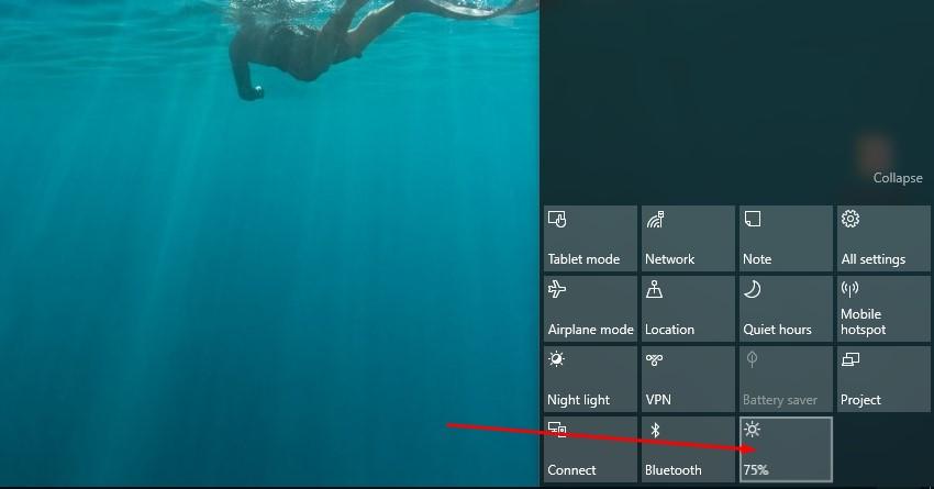 Giảm ánh sáng màn hình máy tính Windows