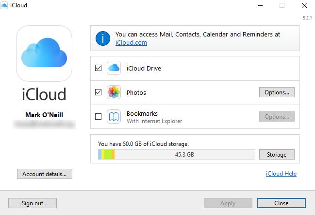 Hướng dẫn đồng bộ hóa iCloud giữa iPhone và Windows 10 3