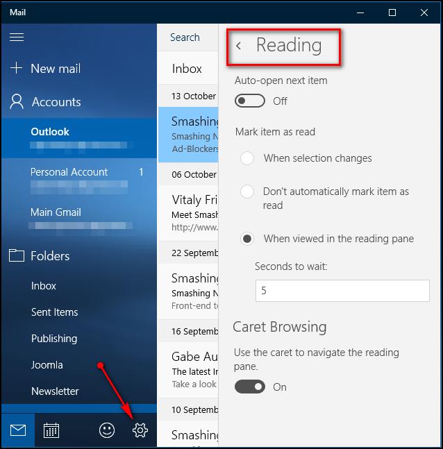 Hướng dẫn sử dụng ứng Mail trên Windows 10 4
