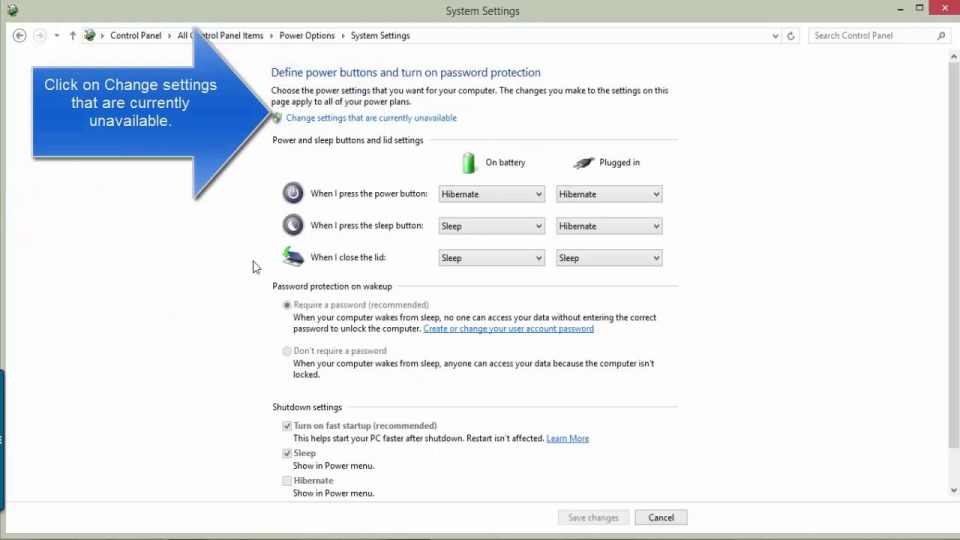 Disable Hybrid Shutdown to fix Windows 10 error not turning off completely