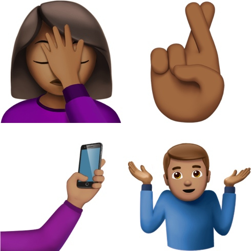 Emoji Face palm iOS 10.2