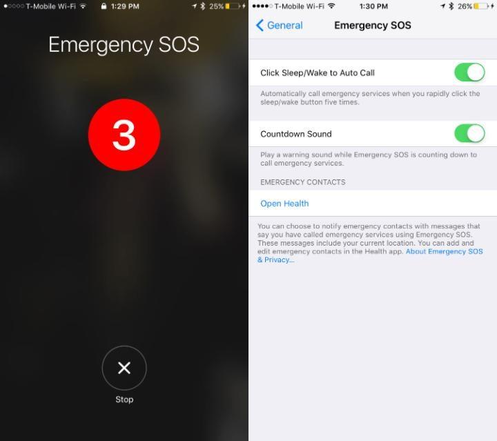 iOS 10.2 cho phép người dùng gọi số khẩn cấp chỉ bằng thao tác đơn giản sau