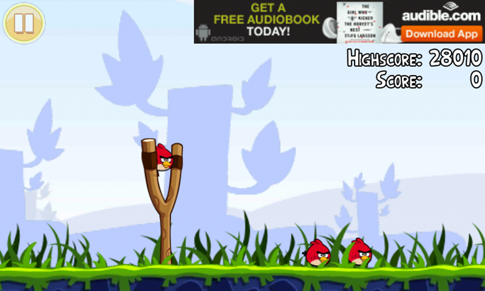 Quảng cáo trong game Angry Bird