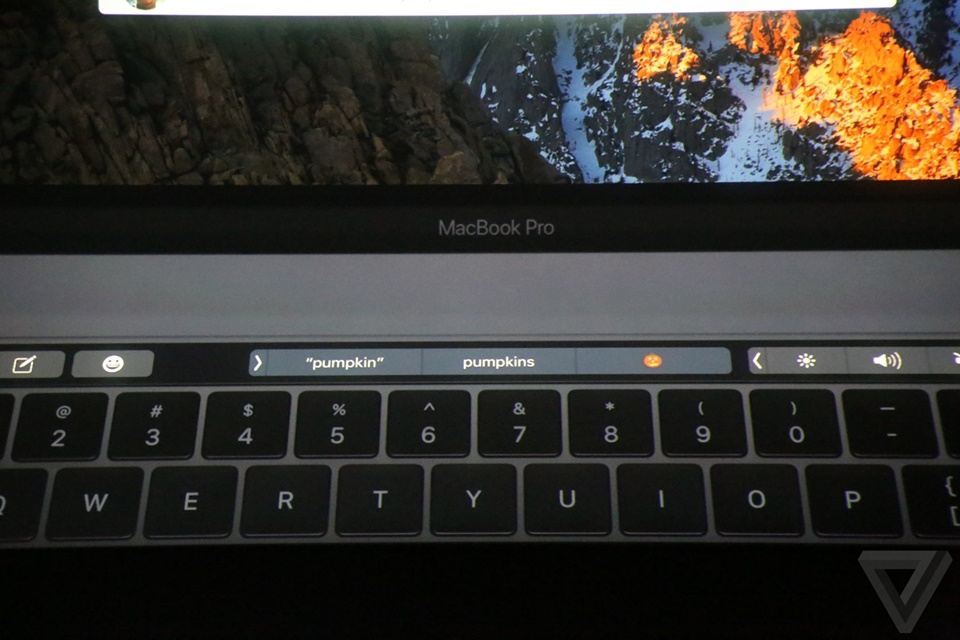 Touch Bar của Macbook Pro mới 13
