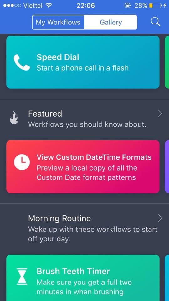 Workflow: Tự động hóa trên iOS chỉ với 1 phím tắt