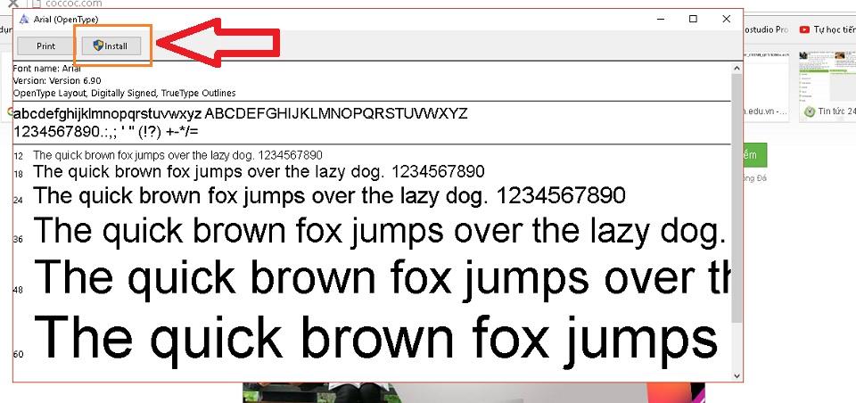 Sửa lỗi font chữ 3