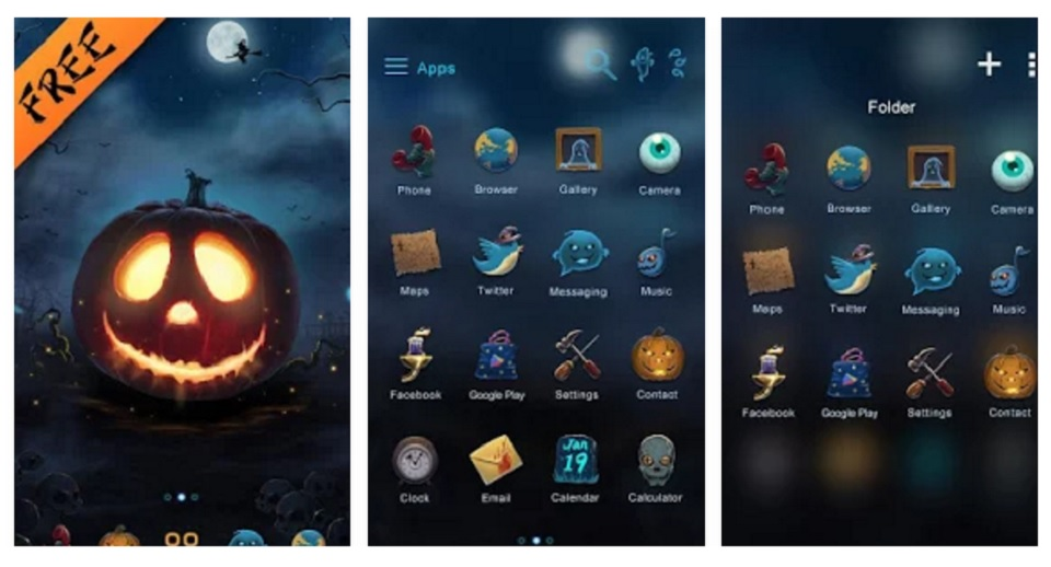 Bộ giao diện Halloween cho điện thoại Android 2