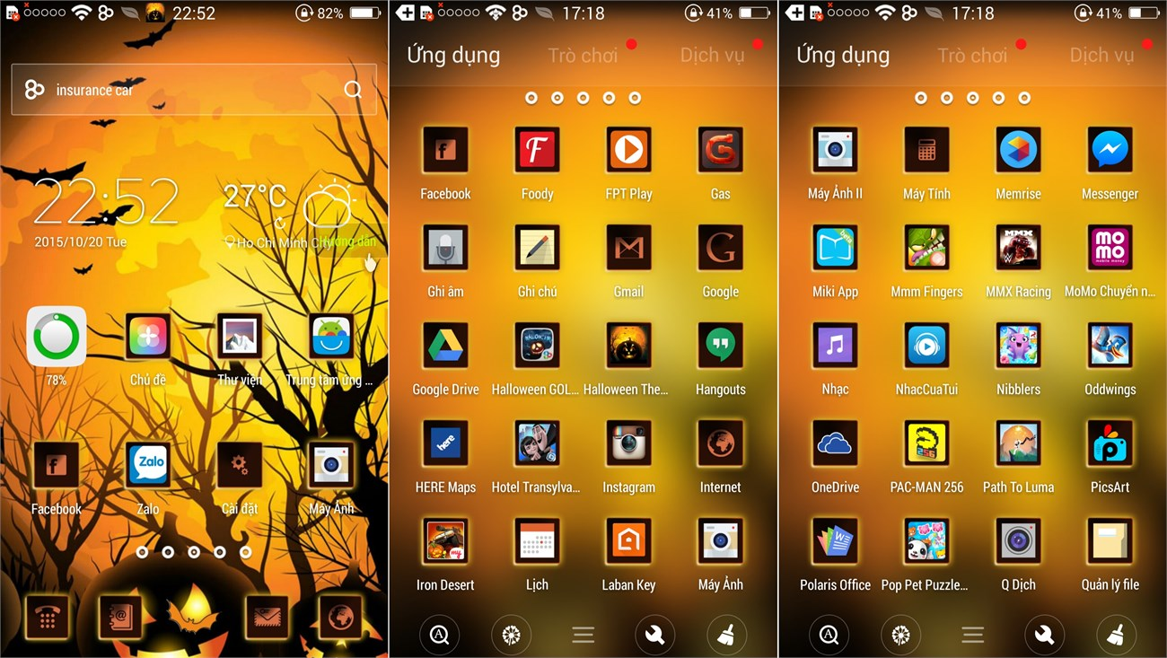 Bộ giao diện Halloween cho điện thoại Android 1