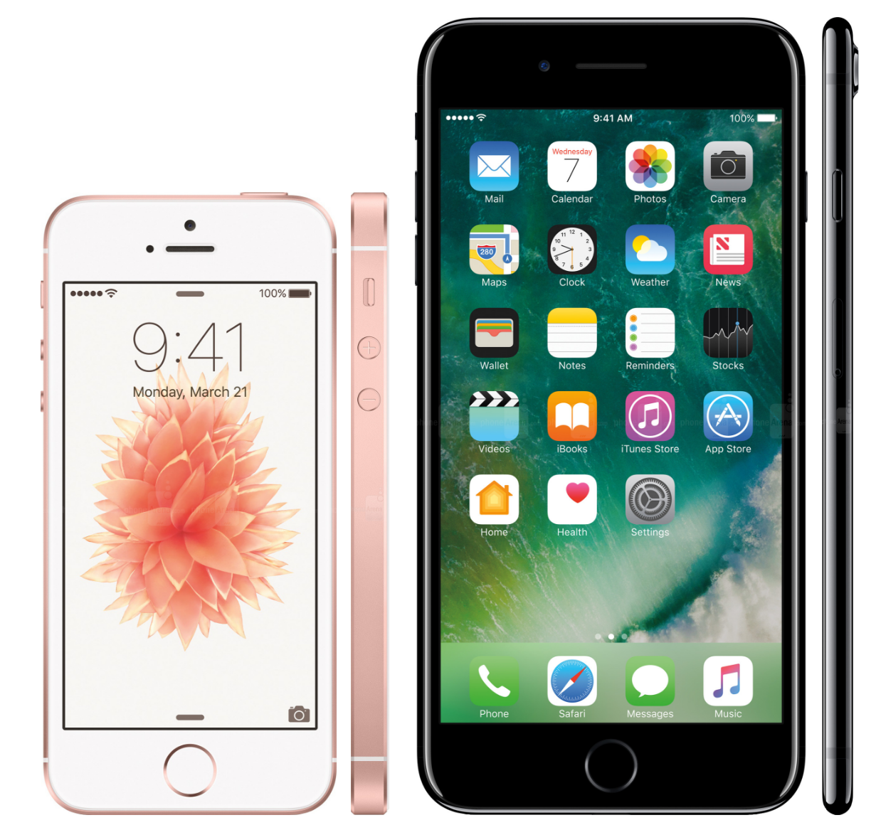 So sánh Apple: iPhone 7 có gì hơn iPhone SE?