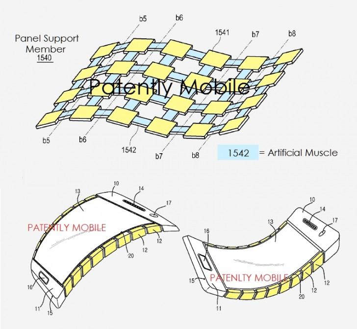Bằng sáng chế màn hình uốn dẻo của Samsung