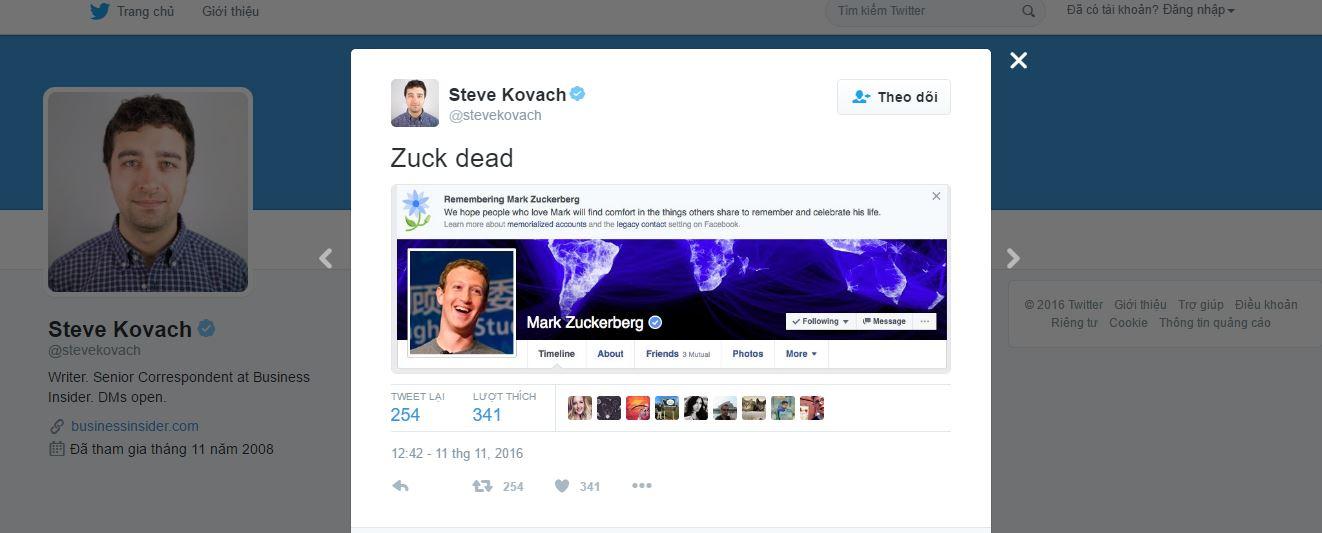 Facebook bất ngờ tuyên bố ông chủ của mình - Mark Zuckerberg đã... chết