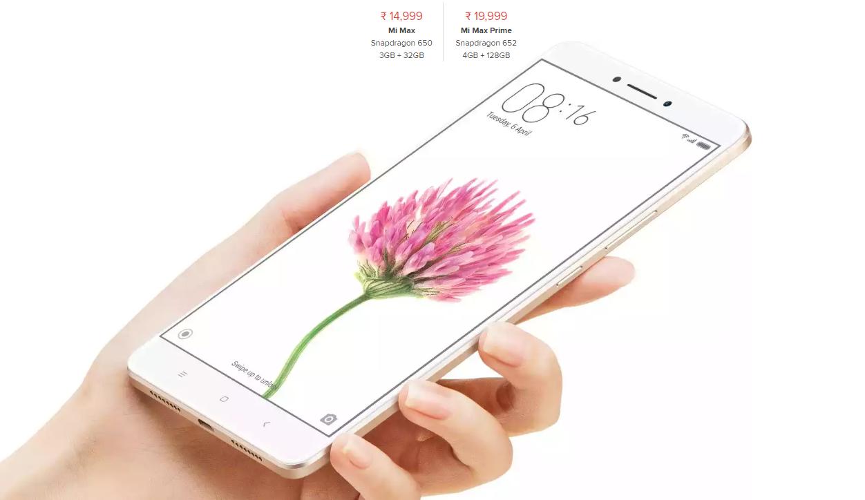 """Xiaomi bất ngờ tung """"bé bự"""" Mi Max Prime với RAM 4 GB, ROM 128 GB"""