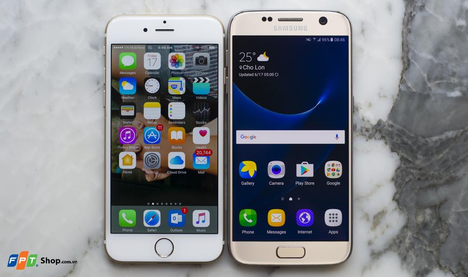 Thiết kế Samsung Galaxy S7 và iPhone 6: Long tranh hổ đấu
