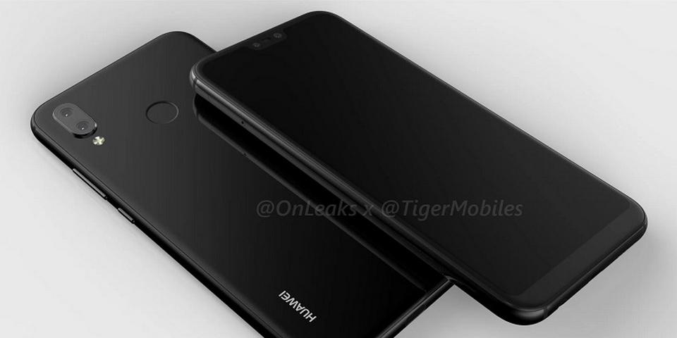 Hình ảnh Render 3D của Huawei P20 Lite