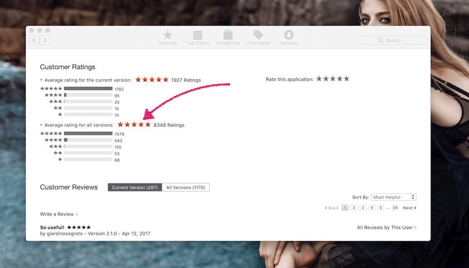 Để ý đánh giá ở phần Customer Ratings để biết chất lượng của ứng dụng.