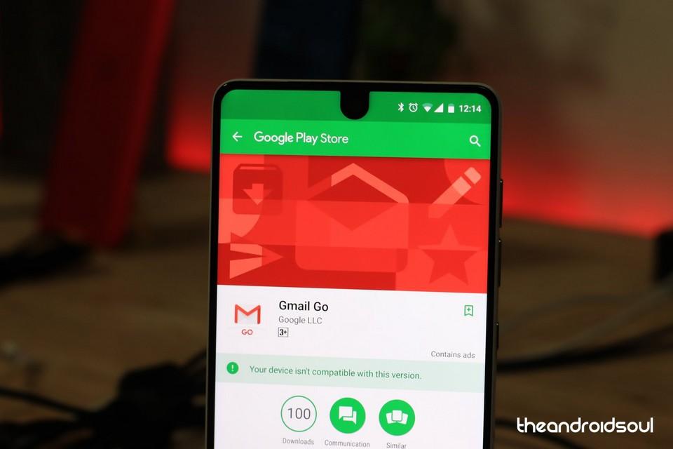 Ứng dụng Gmail Go hiện đã có mặt trên kho ứng dụng Google Play Store.