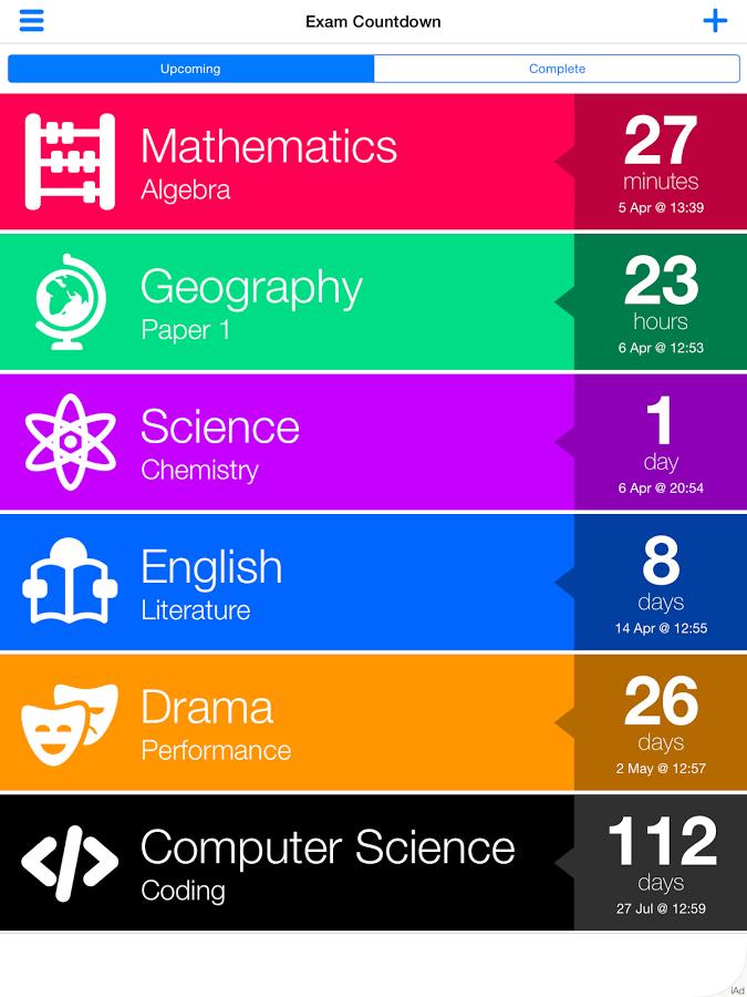 Ứng dụng Exam Countdown