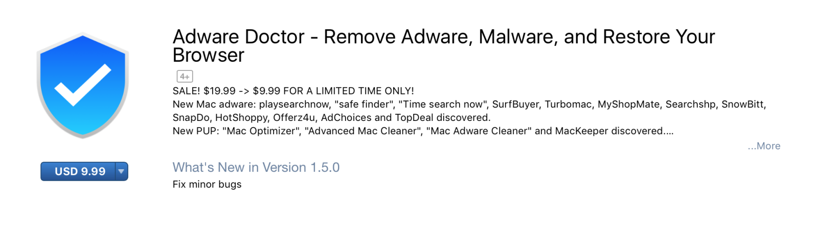 Ứng dụng Adware Doctor
