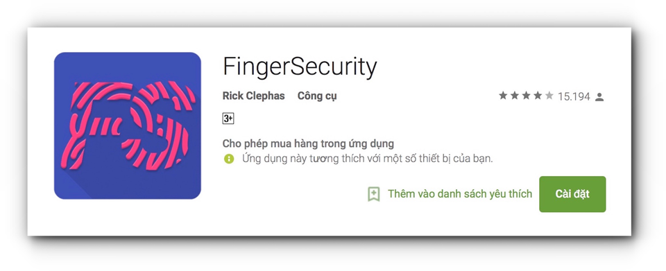 Ứng dụng FingerSecurity