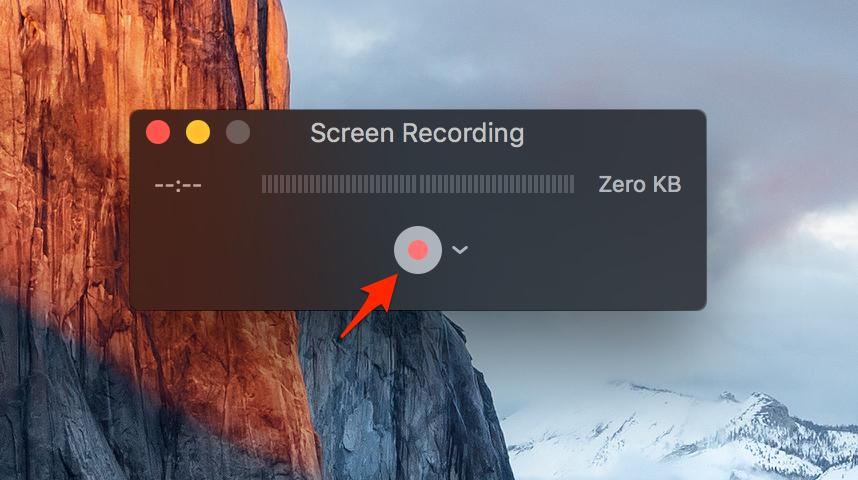 Nhấn vào biểu tượng hình tròn để bắt đầu quay màn hình