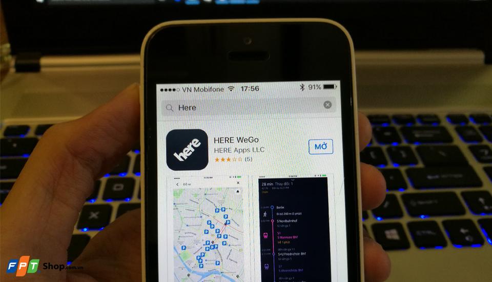 Ứng dụng bản đồ HERE nâng cấp, đổi tên thành HERE WeGo