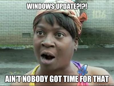 Biếm họa Windows Update