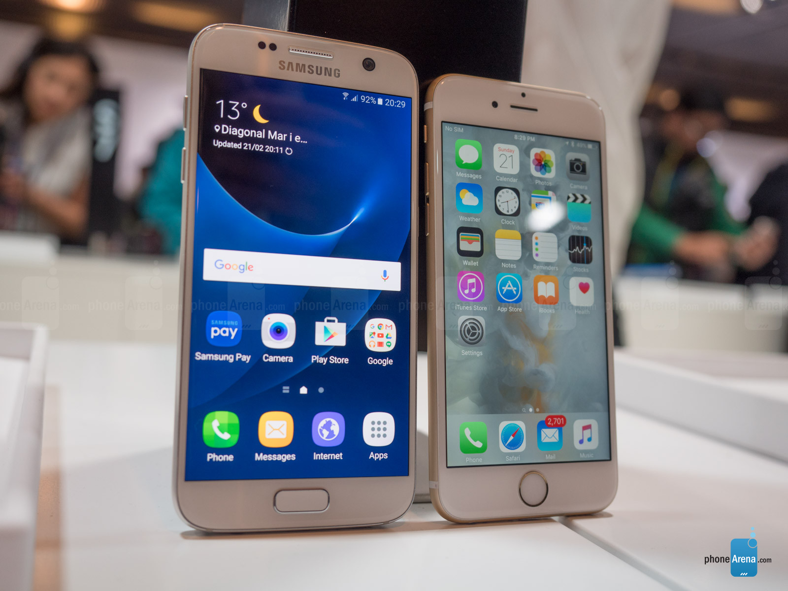 Samsung Galaxy S7 vs Apple iPhone  6s