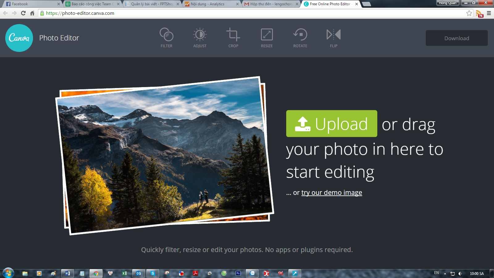 Canva Photo Editor