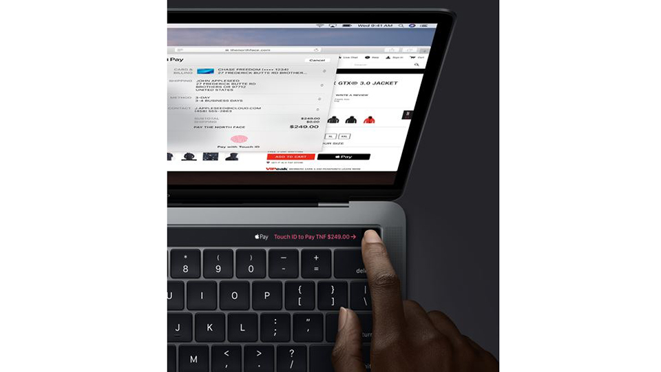 vân tay MacBook Pro 13 Touch Bar (2019)