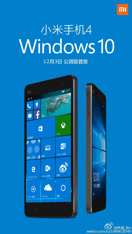 Xiaomi Mi 4 Windows 10