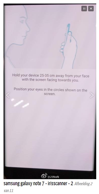 Rò rỉ màn hình quét mống mắt của Galaxy Note 7 3