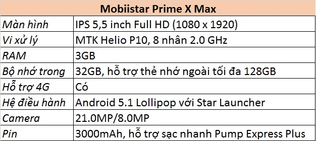 Mobiistar Prime X Max