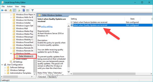 Hướng dẫn tắt Windows Updates